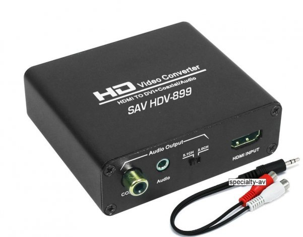 HDMI to DVI + Digital Coax