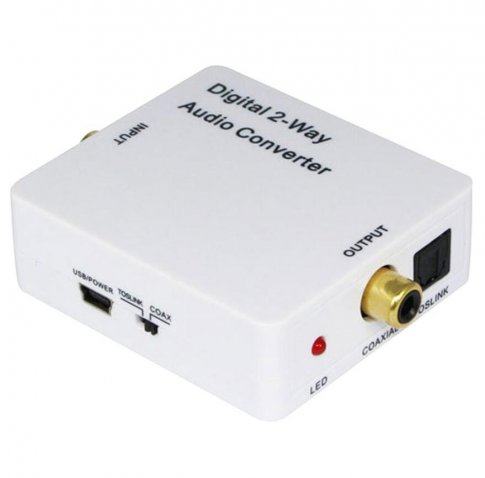 Digital 2-way audio converter