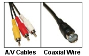 a/v cables and coaxial wire