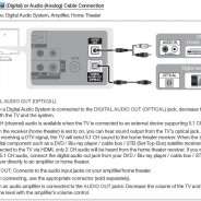 Digital audio out Optical cable to RCA